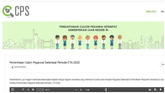 Kemenlu Buka Penerimaan Calon Pegawai Setempat: Pendidikan Minimal D3, Buka hingga 31 Agustus 2020