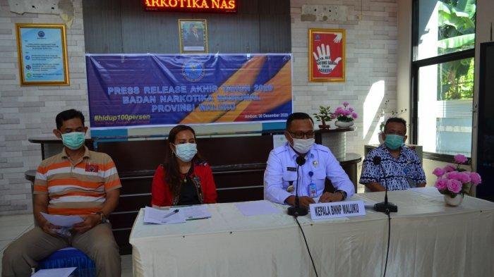 BNNP Maluku Ungkap 16 Kasus Narkotika Sepanjang 2020, 18 Orang Tersangka