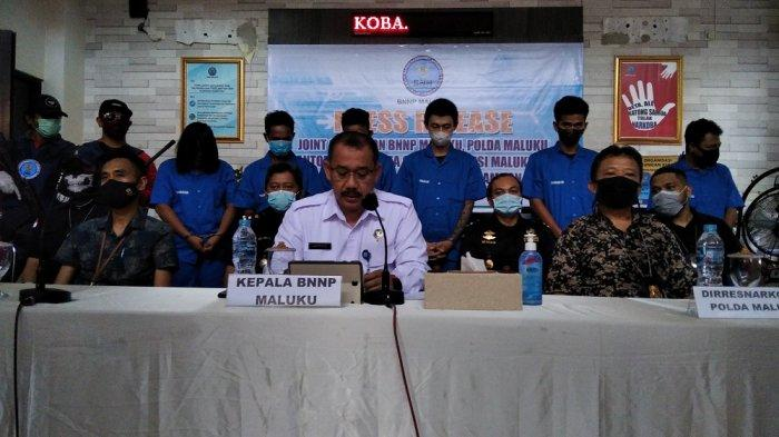 Dua Warga Kota Ambon Ditangkap Lantaran Bawa 200 Gram Sabu
