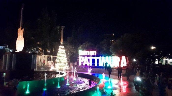 Aparat Gabungan Bubarkan Kerumunan di Taman Pattimura Ambon saat Malam Tahun Baru