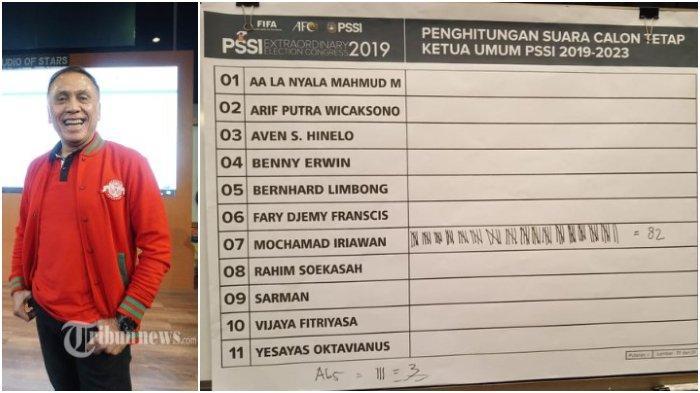 Iwan Bule, Mochtar Iriawan Terpilih sebagai Ketua Umum PSSI, Menangkan 82 Suara dari 85 Pemilih
