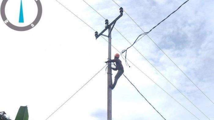 Proses pembangunan layanan listrik di tiga desa di Kecamatan Kei Besar Bagian Utara, Kabupaten Maluku Tenggara.