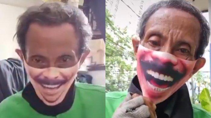 Viral Driver Ojol Bermain TikTok dan Gunakan Masker Kumis, Ini Klarifikasi Babeh Ary