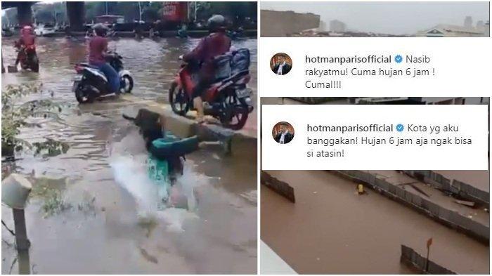 Unggah Ulang Video Viral soal Banjir, Hotman Paris Tulis Caption Menohok, Siapa yang Disindir?