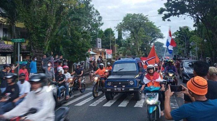 Belanda Menang, Jalanan Kota Ambon Kembali Dipenuhi Konvoi Ratusan Kendaraan
