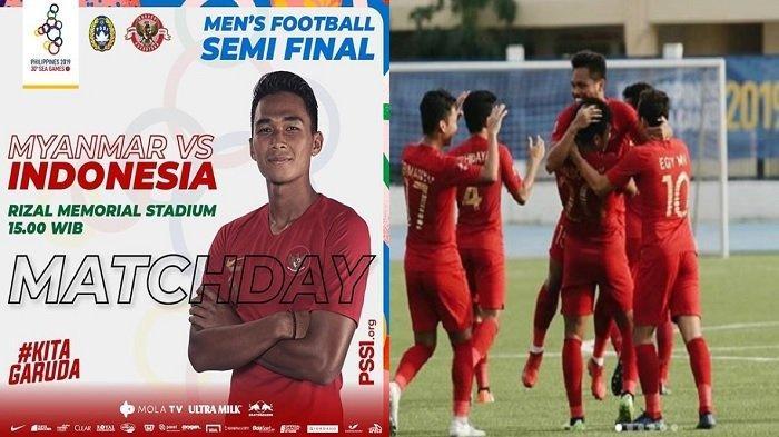 Live TV Online Indonesia vs Myanmar, Timnas U23 di Semifinal Sea Games 2019, Link Akses di Sini