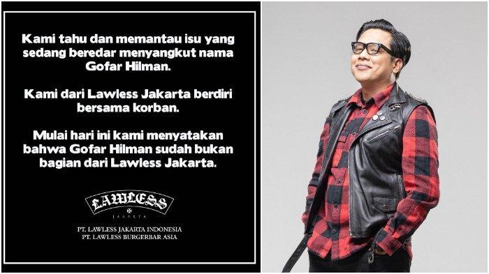 Buntut Kasus Dugaan Pelecehan Seksual, Gofar Hilman Didepak dari Lawless Jakarta