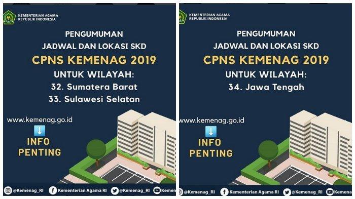 Kementerian Agama Rilis Jadwal dan Lokasi Tes SKD CPNS 2019, Ini Linknya!