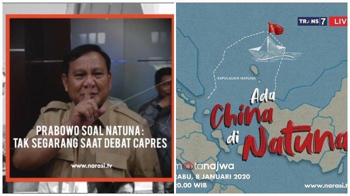 Live Streaming Mata Najwa, Tema : Ada China di Natuna, Malam Ini Pukul 20.00 WIB