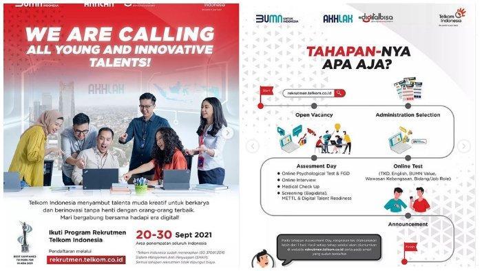 Lowongan Kerja Telkom Indonesia, Pendidikan Minimal S1, Pendaftaran Buka Sampai 30 September 2021