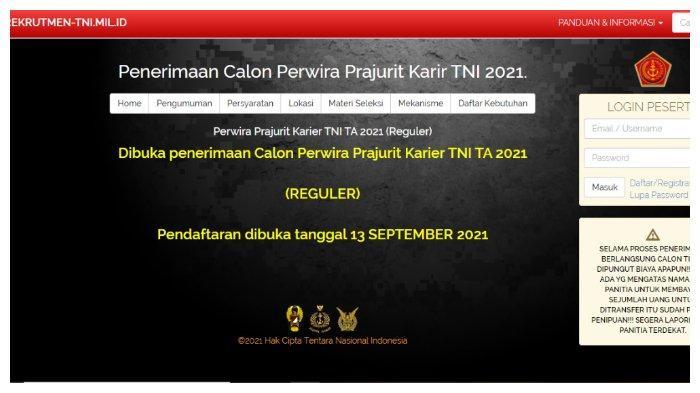 TNI Buka Pendaftaran Perwira Prajurit Karir 2021, Simak Syarat Lengkapnya di Sini