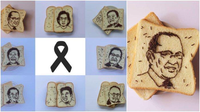 Viral 24 Lukisan Meses di Atas Roti Tawar Membentuk Wajah Dokter yang Gugur Perangi COVID-19