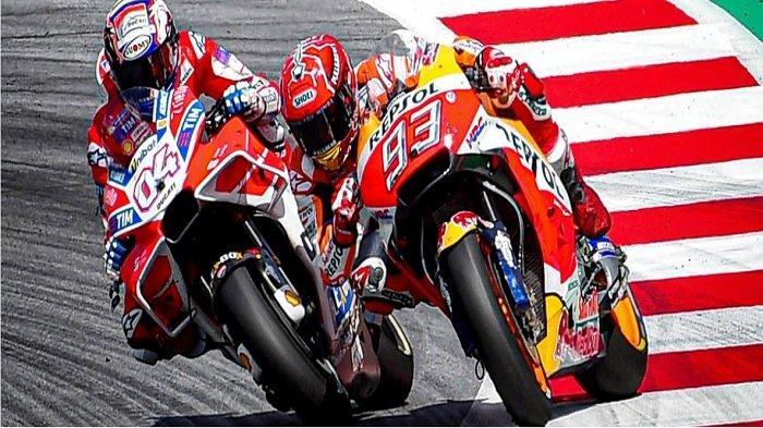 Live TV Online MotoGP Austria 2019, Starting Grid Marquez Memimpin, Valentino Rossi Nomor 10