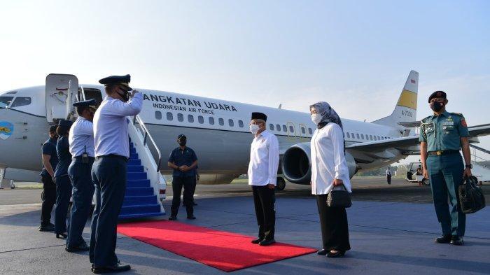 Perdana ke Ambon, Wakil Presiden Maruf Amin Gunakan Pesawat Khusus Kepresidenan Boeing 737- 400
