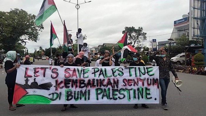Tak Mau Ketinggalan, Puluhan Pemuda di Masohi Gelar Aksi Kemanusiaan untuk Palestina