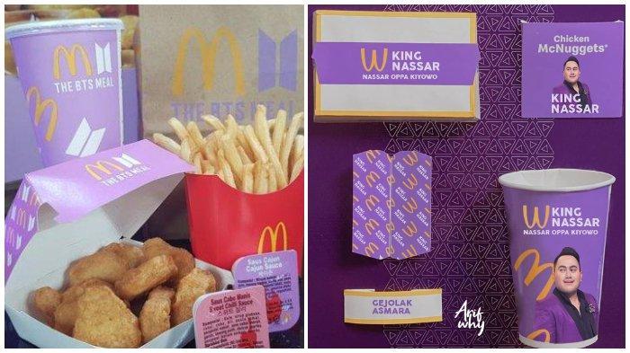 Heboh ARMY Simpan Kemasan McDonald's BTS Meal, Muncul Parodi Bungkus Bergambar Wajah Nassar