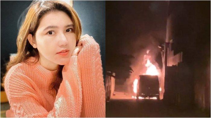 Detik-detik Mobil Via Vallen Dibakar Orang: Tolong Pemadam Kebakaran Cepat ke Sini, Aku Takut