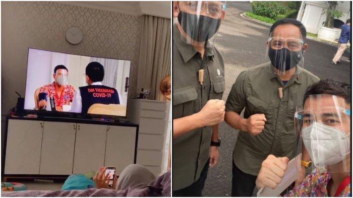 Nagita Slavina Saksikan dari Rumah Detik-detik Raffi Ahmad Disuntik Vaksin Covid-19