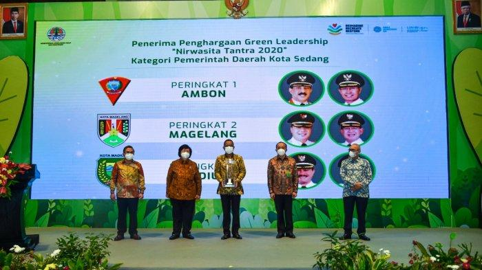 Pemerintah dan DPRD Kota Ambon Terima Penghargaan Nirwasita Tantra, Louhenapessy: Untuk Warga Ambon