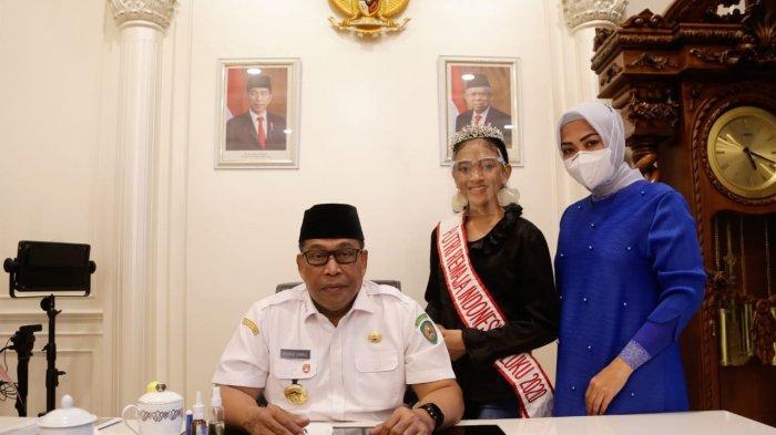 Gubernur Maluku Beri Dukungan Kepada Nisrina di Ajang Putri Remaja Indonesia 2020
