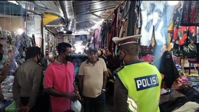 Operasi Yustisi di Pasar Binaya Masohi, Warga Yang Tak Pakai Masker Berdalih Lupa