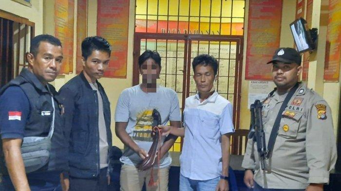 Pelaku BH yang telah diamankan di Polres Bima Kota