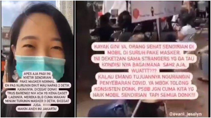 VIRAL Wanita Didenda karena Turunkan Masker saat Sendiri di Mobil, Justru Berkerumun saat Urus Denda