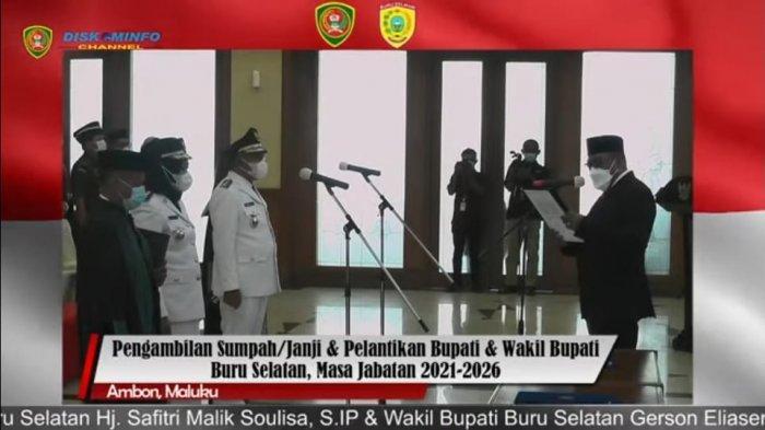 Murad Ismail Lantik Safitri Malik Soulissa dan Gerson Selsily Jadi Bupati dan Wakil Bupati Bursel