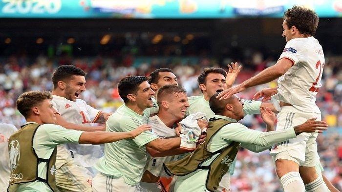 Hasil Euro 2020, Kalahkan Kroasia, Drama 8 Gol Warnai Perjuangan Spanyol ke Perempat Final