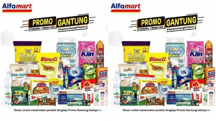 Promo Gantung Alfamart Periode 25 September - 1 Oktober 2020, Lebih Hemat Bayar Pakai Gopay