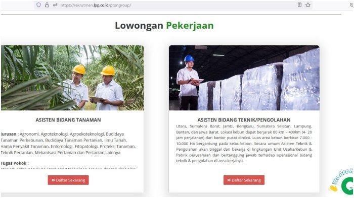 PT Perkebunan Nusantara Buka Lowongan Kerja, Daftar Online Dibuka Sampai 14 Oktober 2021