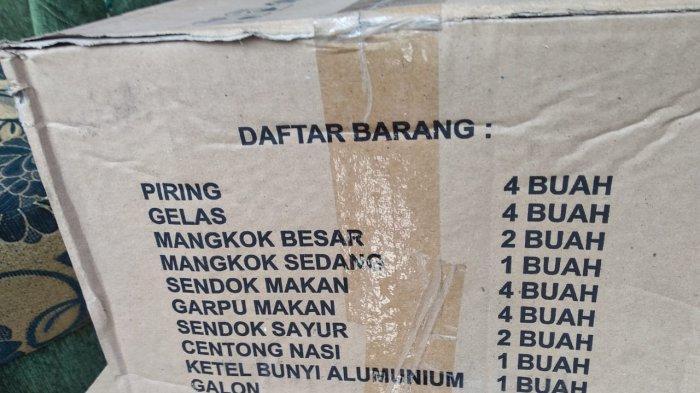 Paket perlengkapan dapur, bantuan Dinsos Kota Ambon