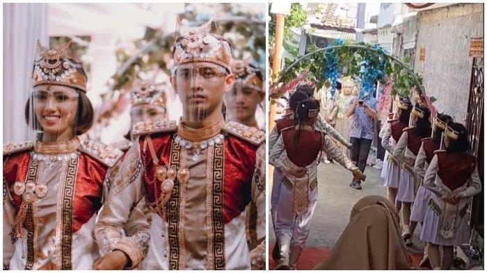 Viral Resepsi Pernikahan Diiringi Kirab Paskibra, Mempelai ternyata Pelatih Paskibra