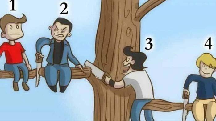 Siapa yang Paling Bodoh dari 4 Orang di Gambar Ini? Jawabanmu Ungkap Kepribadian Aslimu