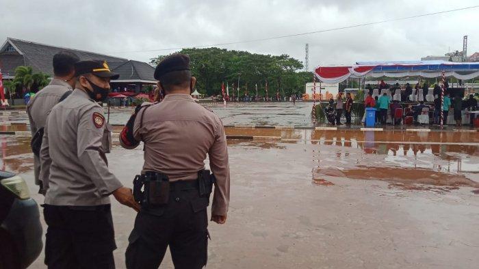 Puluhan Polisi Amankan Peringatan HUT Kota Ambon di Lapangan Merdeka