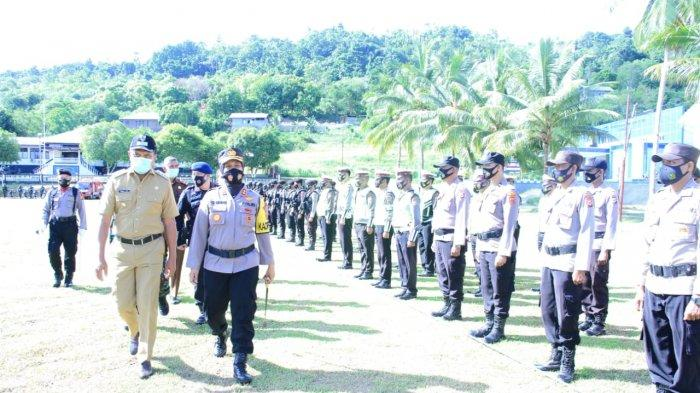 300 Personil Gabungan Siap Amankan Lebaran Idul Fitri di Kota Masohi