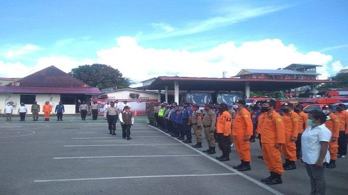 Antisipasi Badai La Nina, Polresta Ambon Gelar Apel Konsolidasi Siaga Bencana