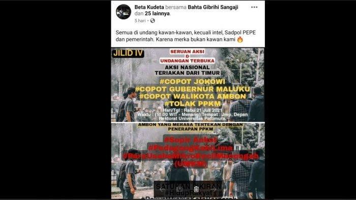 Polresta Ambon Periksa 8 Saksi Terkait Kasus Ujaran Kebencian terhadap Jokowi dan Murad Ismail