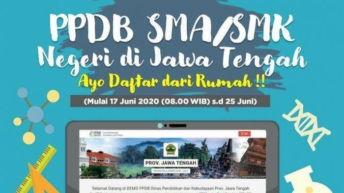 Cara Pendaftaran PPDB Online SMA/SMK JawaTengah di ppdb.jatengprov.go.id, Dibuka hingga 25 Juni 2020