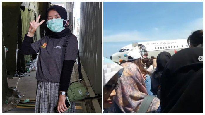 Mahasiswa Unesa yang Sempat di Wuhan telah Kembali, Pramesti Ardita: Alhamdulillah Pulang