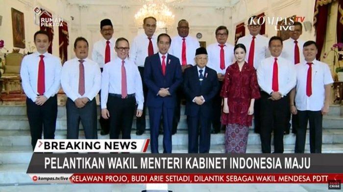 Inilah 12 Wakil Menteri Kabinet Indonesia Maju Pilihan Jokowi, Harus Siap Bantu Menteri