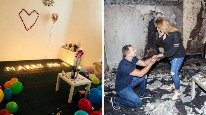 Seorang Pria Berniat Lamar Kekasih dengan Gunakan Ratusan Lilin tapi Ini yang Terjadi