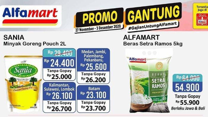 Promo Gantung Gajian Untung Alfamart 27 November - 3 Desember 2020, Makin Murah Bayar Pakai Gopay