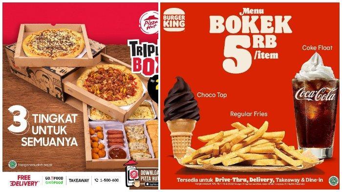 Promo Makanan Bulan Ini, Pizza Hut, KFC hingga Burger King