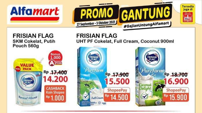 Promo Gantung Alfamart 27 September - 3 Oktober 2021: Frisian Flag UHT 900ml Rp 14.500