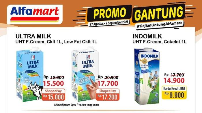 Promo Gantung Alfamart 31 Agustus 2021: Indomilk UHT Full Cream Cokelat 1L Rp 9.900