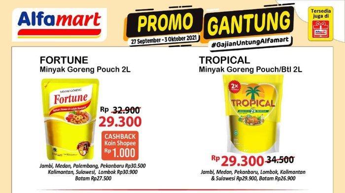 Promo Gantung Alfamart 3 Oktober 2021: Beli Minyak Goreng Fortune Dapat Cashback Shopeepay