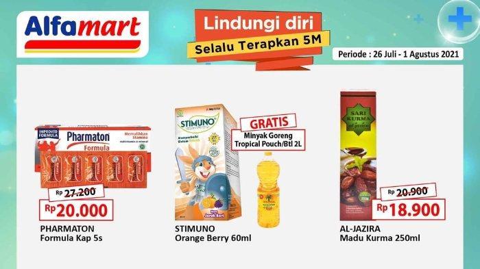 Promo Gantung Gajian Untung Alfamart 26 Juli-1 Agustus 2021: Beli Stimuno Gratis Minyak Goreng 2L