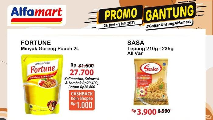 Promo Gantung Alfamart Gajian Untung 25 Juni - 1 Juli 2021, Fortune Minyak Goreng 2 Liter Rp 27.700
