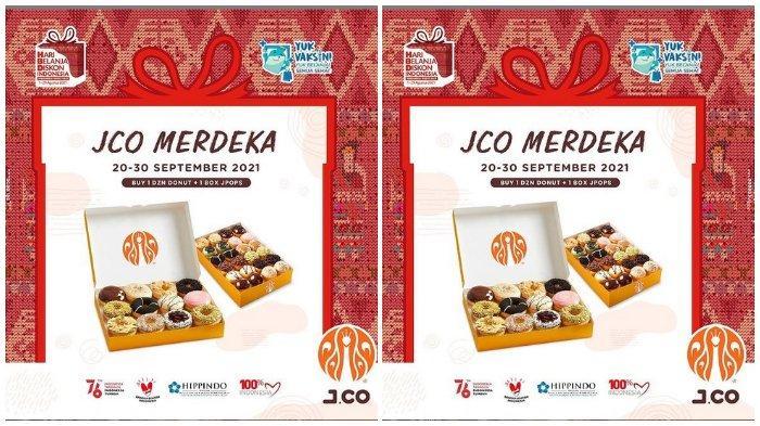 Promo JCO Merdeka: Beli Paket 1 Dzn Donut + 1 Box JPOPS Cukup Bayar Rp 115.000